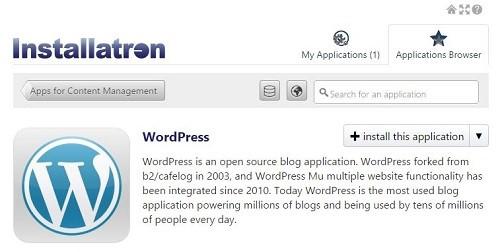 Install WordPress on website