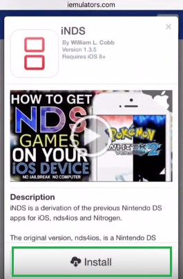 iNDS iOS 11 Download