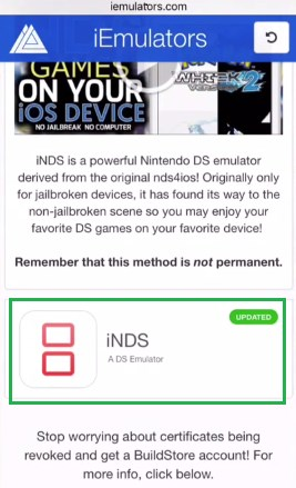 iNDS iOS 11