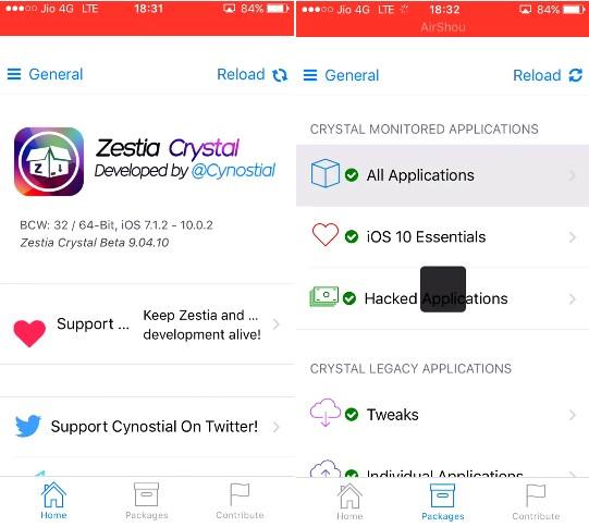Zestia Crystal iOS App